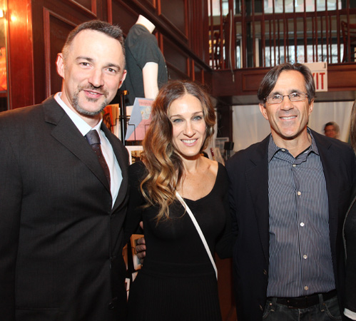 Carl Sicilaino, Sarah Jessica Parker, and Frank Selvaggi