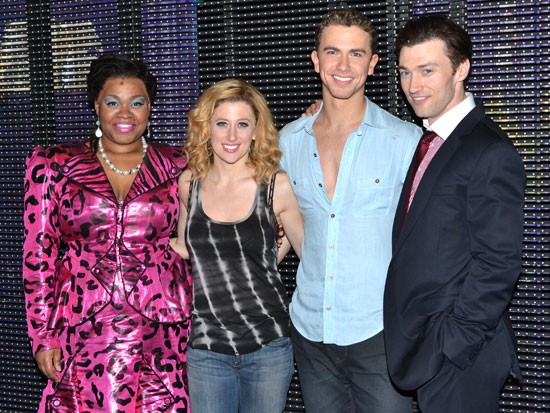 Da'Vine Joy Randolph, Caissie Levy, Richard Fleeshman, and Bryce Pinkham
