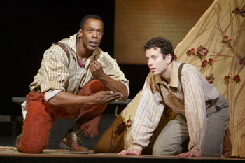 Michael McElroy and Tyrone Giordano in Big River(Photo © Joan Marcus)