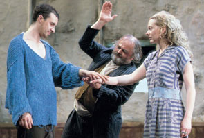 Tom Vaughan Lawlor, John Olohan, and Cathy Belton inThe Playboy of the Western World(Photo © Tom Lawlor)
