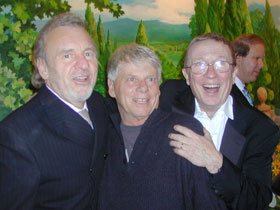 Colm Wilkinson, Robert Morse, and George Hearn(Photo © Michael Portantiere)