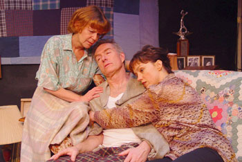 Susanne Marley, Peter Brouwer, and Anne DuPont in God's Daughter(Photo © Kim T. Sharp)