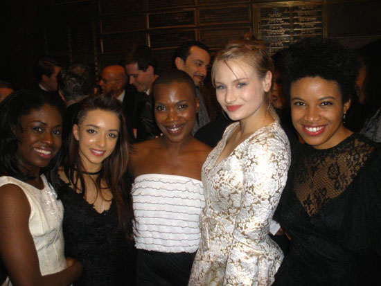 Jameelah Nuriddin, Angelina Prendergast, Kenyetta Lethridge, Clara Gabrielle, and Daphne Gabriel