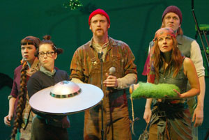 Robin Goldwasser, Tricia Scotti, Chris Anderson,Connie Petruk, and Todd Almond in People Are Wrong!(Photo © Carol Rosegg)