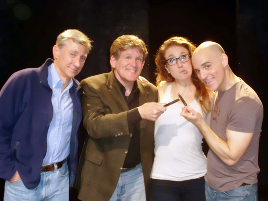 David Garrison, Anthony Heald, Jenn Harris, and Harry Bouvy