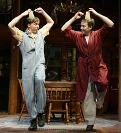 Kevin Cahoon and Matthew Broderickin The Foreigner(Photo © Joan Marcus)