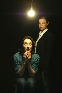 Molly Powell and Lael Logan in The Female Terrorist Project (Photo © Carol Rosegg)