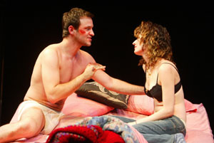 Adam Rothenberg and Rosemarie DeWitt in Danny and the Deep Blue Sea (Photo © Joan Marcus)