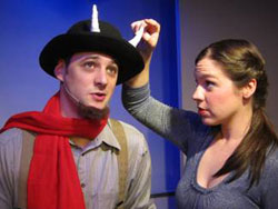Catherine Fowles and Robert Gilbert in The Lion, the Witch and the Wardrobe (CourtestyOff Broadway Family Theater)