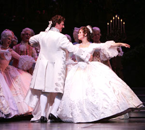 Christopher Sieber and Sarah Uriarte Berryin the New York City Opera's Cinderella(Photo © Carol Rosegg)