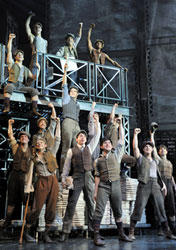 The company of Newsies