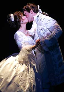Sarah Uriarte Berry andChristopher Sieber in Cinderella(Photo © Carol Rosegg)