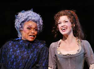 Eartha Kitt and Sarah Uriarte Berry in Cinderella(Photo © Carol Rosegg)