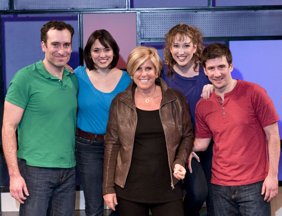 Chris Hoch, Joanna Young, Suze Orman, Courtney Balan, and David Josefsberg