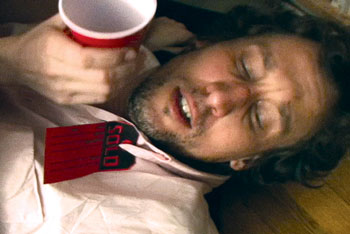 Eric Dean Scott in In This Is The End of Sleeping(Video Still courtesy of Leah Gelpe)