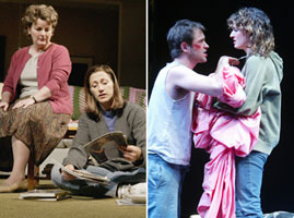 Brenda Blethyn and Edie Falco in 'night, Mother;Adam Rothenberg and Rosemarie DeWitt inDanny and the Deep Blue Sea(Photos © Joan Marcus)