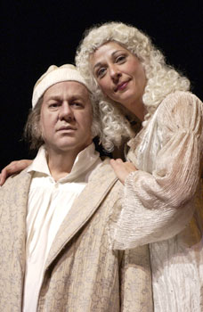 William Brown and Lisa Dodson inthe Goodman Theatre's A Christmas Carol(Photo © Michael Brosilow)