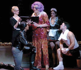 Dame Edna and company inDame Edna: Back With a Vengeance!(Photo © David Allen)