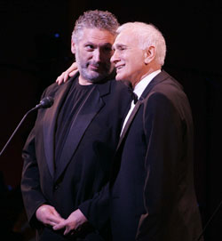 Harvey Fierstein and Dick Latessain the Encores! Bash(Photo © Joan Marcus)