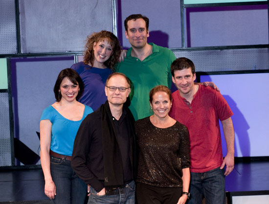 David Hyde Pierce and Katie Couric with Joanna Young, Courtney Balan, Chris Hoch and David Josefsberg (Courtesy of the company)