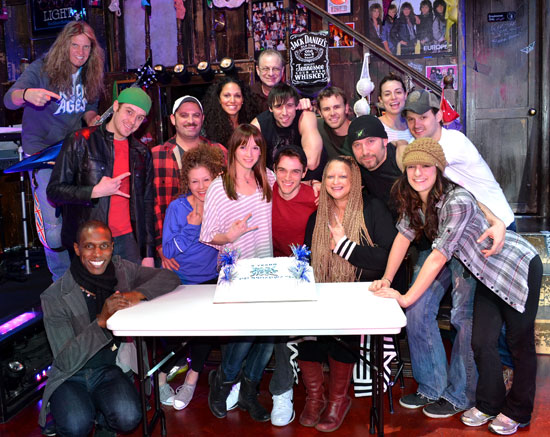 The cast of Rock of Ages