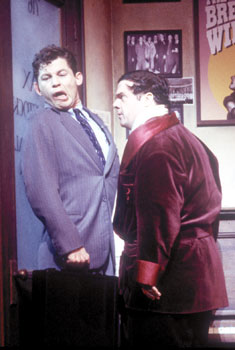 Lee Evans and Nathan Lane in The Producers(Photo © Catherine Ashmore)