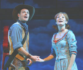 Clarke Thorell and Julie Tolivar in Lone Star Love(Photo © Joan Marcus)