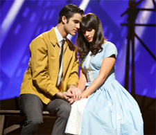 Darren Criss and Lea Michele in Glee