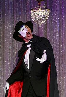 Ron Bohmer inForbidden Broadway: Special Victims Unit(Photo © Carol Rosegg)