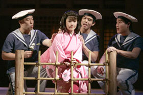 Hoon Lee, Mayumi Omagari, Telly Leung, and Darren Leein Pacific Overtures(Photo © Joan Marcus)