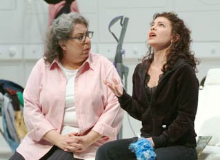 Jayne Houdyshell and Abigail López in The Clean House(Photo © Jim Roese)