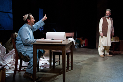 Jeremiah Kissel and Will LeBow in Two Jews Walk Into a War...   (© Meghan Moore, Courtesy  Merrimack Repertory Theatre)