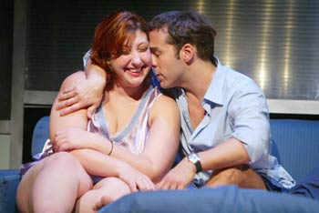 Ashlie Atkinson and Jeremy Piven in Fat Pig(Photo © Joan Marcus)