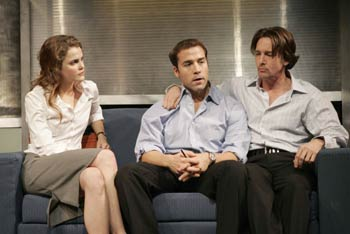 Keri Russell, Jeremy Piven, and Andrew McCarthy in Fat Pig(Photo © Joan Marcus)