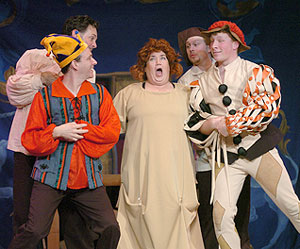 Lea DeLaria and cast in Once Upon a Mattress(Photo © David Allen)