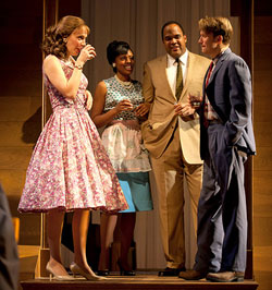 Marianna Bassham, Nikkole Salter, Victor Williams, and McCaleb Burnett in The Luck of the Irish