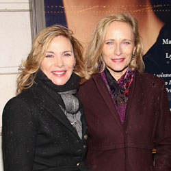 Kim Cattrall and Laila Robins