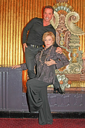 Cloris Leachman and Bruno Tonioli during intermission of Billy Elliot