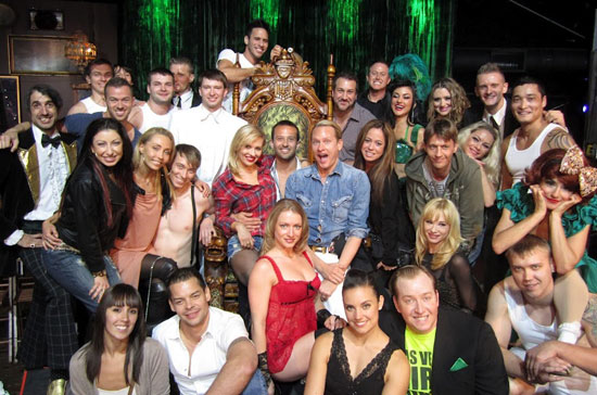 Dancing with the Stars: Live cast members with the Absinthe ensemble (© Spiegelworld 2012)