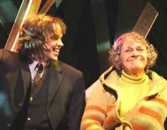 Eric Millegan and Estelle Parsons in Harold & Maude: The Musical(Photo © Jerry Dalia)