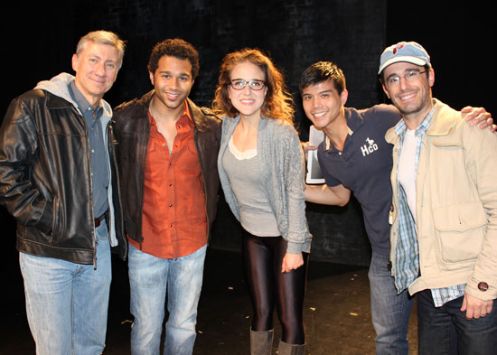 David Garrison, Corbin Bleu, Jenn Harris, Telly Leung, and Christopher Gattelli