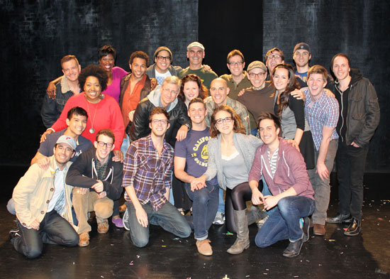 Silence! The Musical company with the entire cast of Godspell