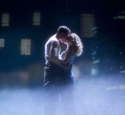 Richard Fleeshman and Caissie Levy