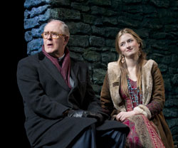 John Lithgow and Grace Gummer in The Columnist (© Joan Marcus)