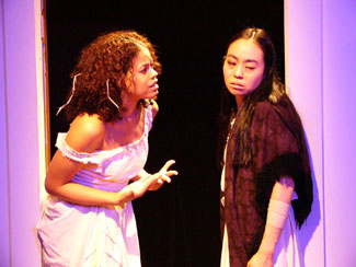 Allison Nichols and Eunice Wong in The House of Bernarda Alba