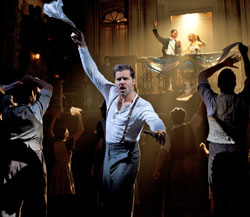 Ricky Martin (center) in Evita