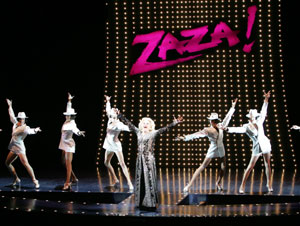 Gary Beach (center) and the cast of La Cage aux Folles