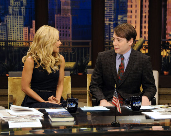 Kelly Ripa and Matthew Broderick on LIVE! with Kelly