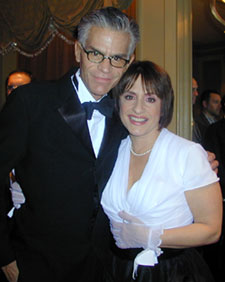 Dick Gallagher with Patti LuPone(Photo © Michael Portantiere)