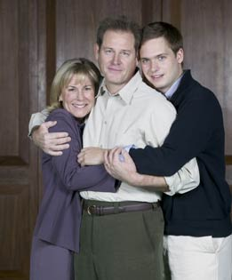Cynthia Mace, Brian Kerwin, and Patrick J. Adams inThe Goat, or Who Is Sylvia?(Photo © Craig Schwartz)